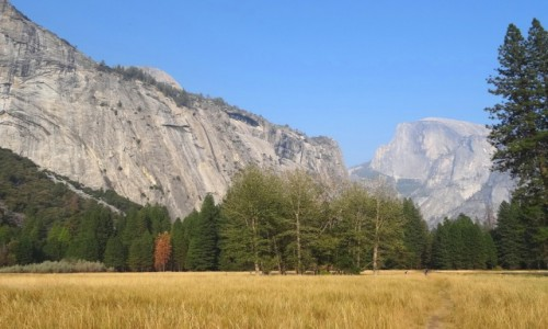 Zdjecie USA / Park Narodowy Yosemite / Half Dome / Kolorowo, s�one