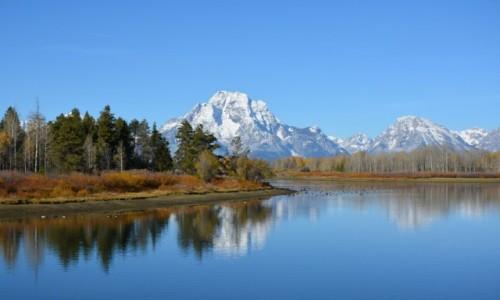 Zdjecie USA / Wyoming / PN Grand Teton / nad rzeką Snake