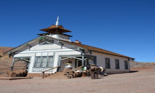 USA / Kalifornia / pustynia Mojave / szkoła w Calico Ghost Town
