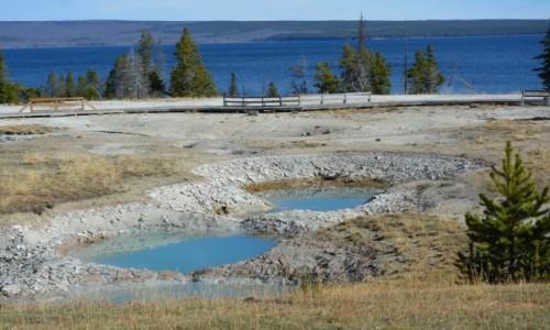 USA / Wyoming / Park Narodowy Yellowstone / gorące źródła