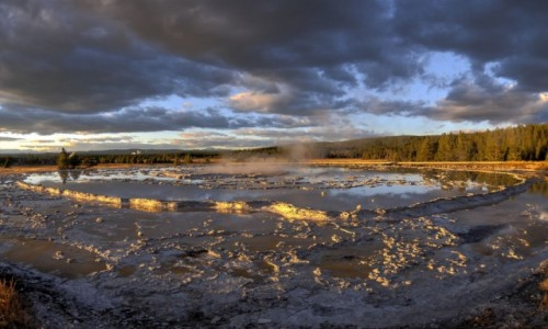 Zdjecie USA / Wyoming / Yellowstone National Park / Firehole