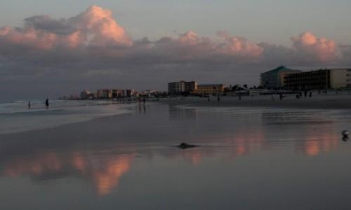 USA / Floryda / Daytona Beach / Plaża wieczorową porą