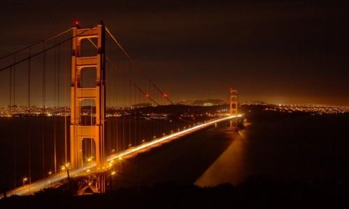 Zdjęcie USA / California / San Francisco / Golden Gate nocą