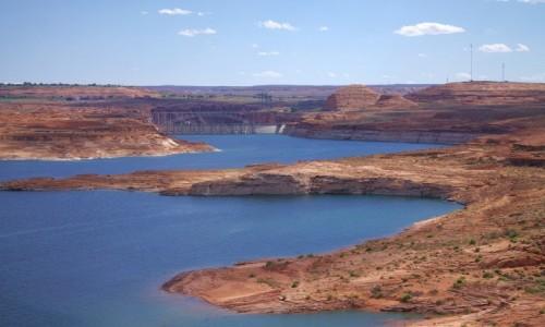 Zdjęcie USA / Arizona / Page / Widok na zaporę jeziora Powel
