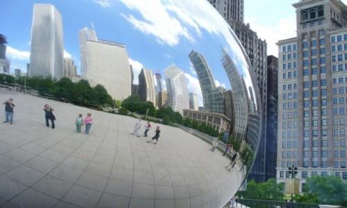 Zdjecie USA / Chicago / Downtown / W krzywym zwierciadle Fasoli