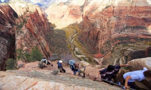 Zdjecie USA / Utah / Zion NP / Na krawedzi
