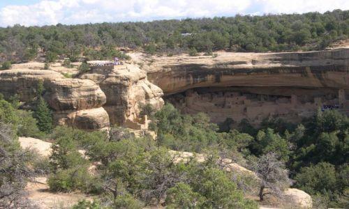 Zdjecie USA / Kolorado / Mesa Verde / osiedle indian Anasazi