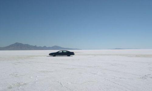 Zdjęcie USA / Utah / Bonneville / wyschniete slone jezioro