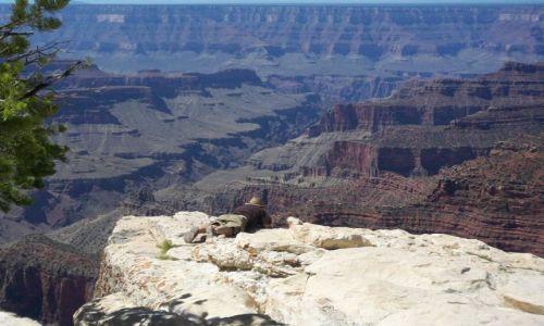 Zdjecie USA / Arizona / Grand Canyon / strach vs. ciekawosc
