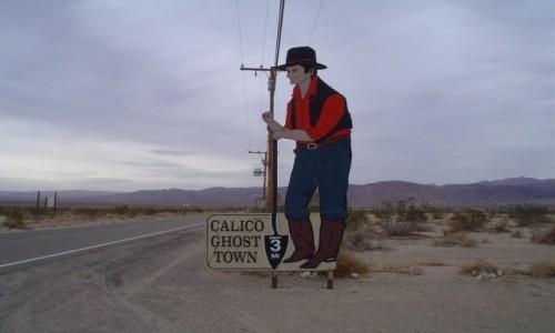 "Zdjecie USA / Kalifornia / Calico / Calico - kalifornijskie ""srebrne miasto duchów"""