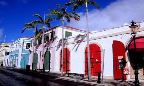 USA / Wyspy Dziewicze Stanów Zjednoczonych / Charlotte Amalie / Główna ulica w starej części stolicy