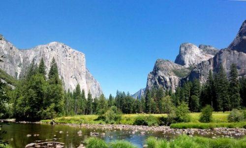 Zdjecie USA / brak / Kalifornia / klasyczny widok Doliny Yosemite