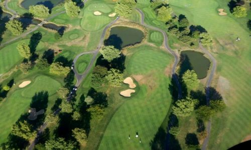 Zdjęcie USA / brak / Illinois / pole golfowe z samolotu