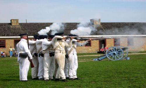 Zdjęcie USA / brak / Minnesota / musztra w Fort Snelling