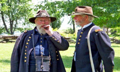 Zdjecie USA / brak / Illinois / Chaplin Creek / General Grant - inscenizacja bitwy z Wojny Secesyjnej