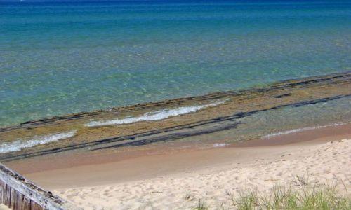USA / brak / Michigan / Arcadia / wrak na plazy