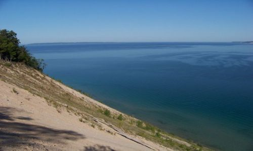 USA / brak / Michigan / Sleeping Bear Dunes / widok z Pyramid Point