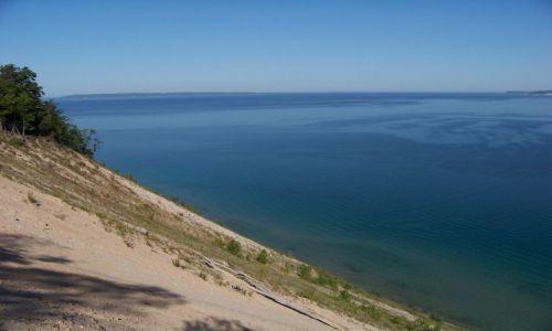 USA / brak / Michigan / Sleeping Bear Dunes / widok z Pyramid Point