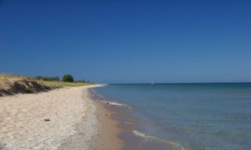 USA / brak / Michigan / Sleeping Bear Dunes / plaza przy wydmach