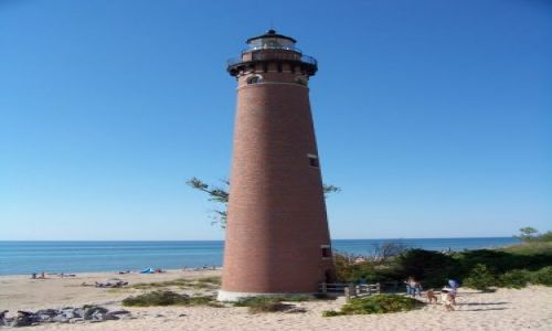 USA / brak / Michigan  / latarnia morska (?) nad jez Michigan