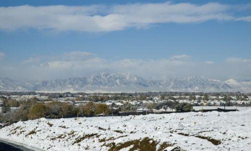 Zdjecie USA / Colorado / Denver / Widok na masyw gór Colorado / W październiku w Denver