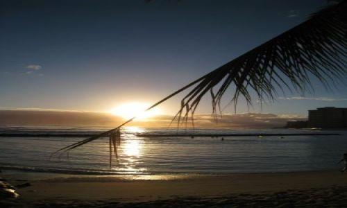 Zdjecie USA / Hawaje / Waikiki Beach / Zachód słońca