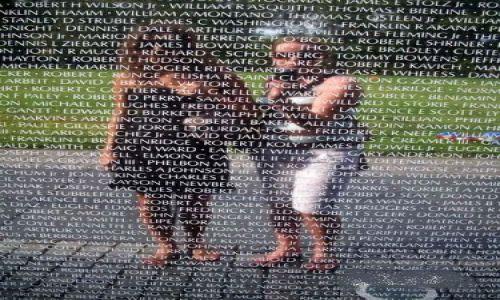 Zdjecie USA / Washington D.C. / Washington D.C. / Pomnik Weteranów wojny w Wietnamie