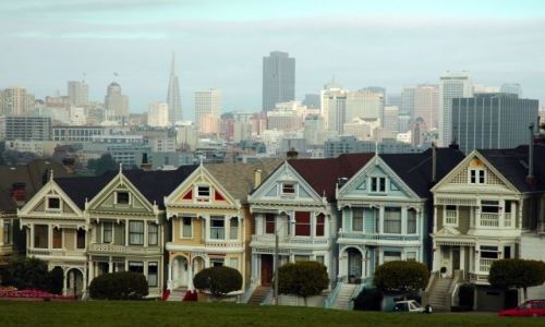Zdjecie USA / brak / san francisco, alamo square / painted ladies