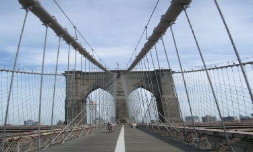 Zdjecie USA / brak / NY   brooklyn  bridge /   kladka  przez  rzeke
