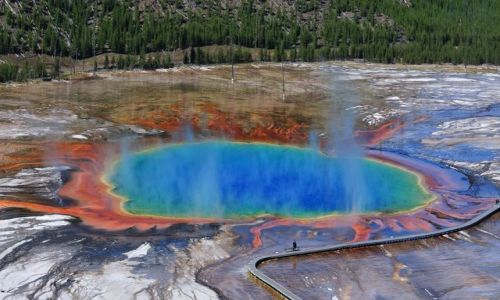 Zdjecie USA / Wyoming / Yellowstone / Grand Prismatic Spring / Grand Prismatic Spring