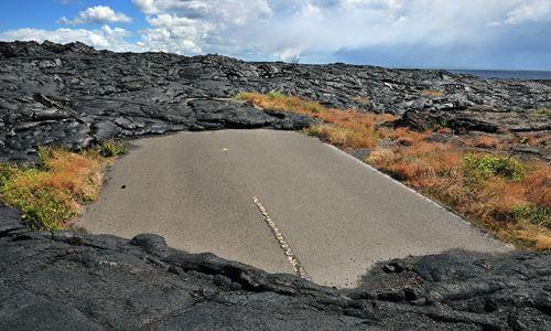 Zdjecie USA / Hawaje - wyspa Big Hawaaii / Wulkan Kilauea / Tą drogą już nikt nie pojedzie...