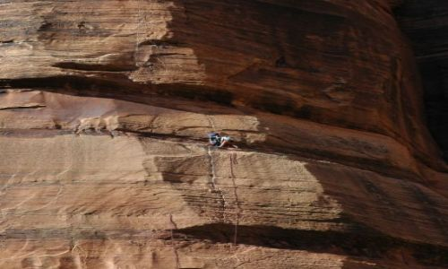 USA / Utah / Zion National Park / wspinaczka
