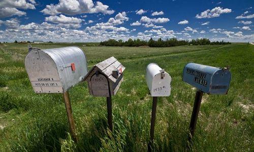 Zdjecie USA / Montana, Wyoming, Colorado, Arizona, Utah, Nebraska / przy drodze / Skrzynki na listy na Dzikim Zachodzie II