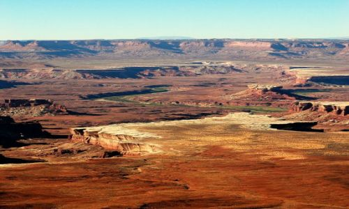 USA / Utah / Canyonlands / Island in the sky /Green River Point / zielona wstążka