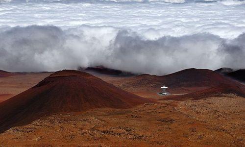 Zdjecie USA / Big Hawaii / Mauna Kea / Nadciąga chmurowe