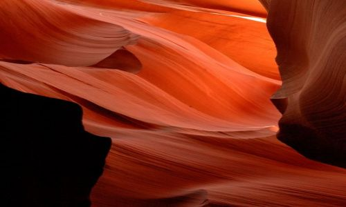 USA / Arizona / Lower Antelope Canyon / w kanionie Antelope
