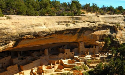 Zdjecie USA / Colorado / Mesa  Verde / Cliff Palace / Pueblo Indian Anasazi