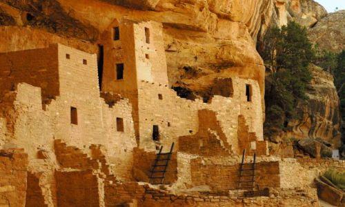 Zdjecie USA / Colorado / Mesa  Verde / Cliff Palace / Pueblo Indian Anasazi