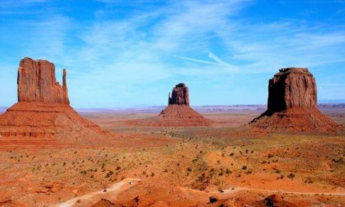 Zdjęcie USA / Arizona / Monument Valley / cudowna kraina Navajo - w samo południe...