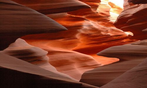 USA / Arizona / Lower Antelope Canyon / pastelowe zakamarki ....