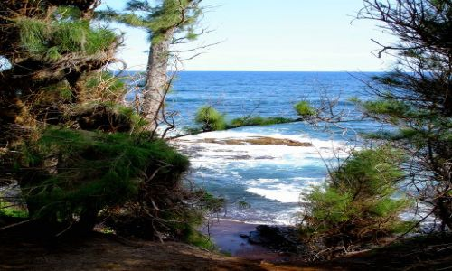 Zdjecie USA / Hawaje/Maui / Red Sand Beach / morze