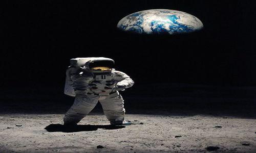 Zdjecie USA / Floryda / Centrum Lotów NASA , Przylądek Canaveral / Wschód Ziemi widziany z Księżyca