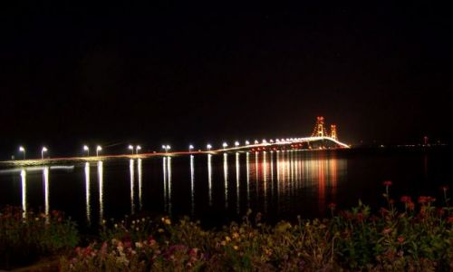 Zdj�cie USA / brak / Mackinaw / stan Michigan / Mackinac Bridge