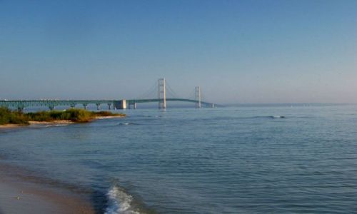 USA / brak / Mackinaw / stan Michigan / Mackinac Bridge 2