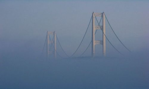 Zdjecie USA / brak / Mackinaw / stan Michigan / Mackinac Bridge