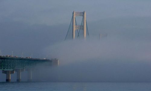 USA / brak / Mackinaw / stan Michigan / Mackinac Bridge 4