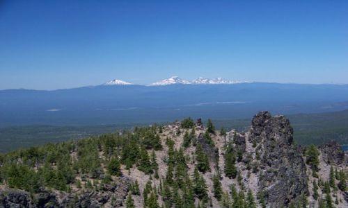 Zdjecie USA / brak / Oregon / Paulina Peak / wulkany Three Sisters