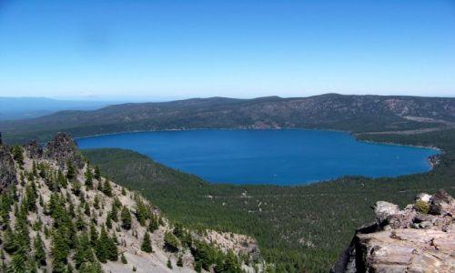 Zdjecie USA / brak / Oregon / Paulina Peak / Paulina Lake