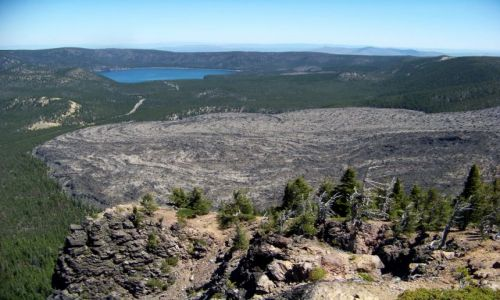 Zdjecie USA / brak / Oregon / Paulina Peak / zastygla lawa