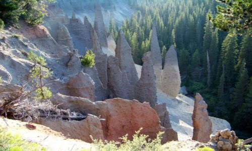 Zdjecie USA / brak / Oregon / Crater Lake / Pinnacles 4